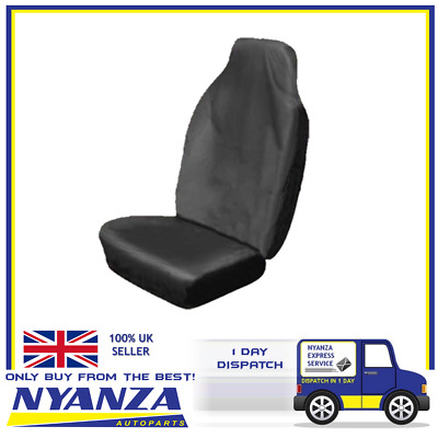 Heavy Duty Single Seat Protector Durable Material Universal Size Black