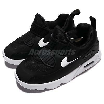 a2a0618a25df Nike Air Max Tiny 90 TD Black White Toddler Infant Baby Running Shoes 881924 -007