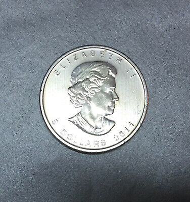 5 Dollars 2011 Maple Leaf / Royal Canadien - 1 Once / Oz Argent 999 - Canada.