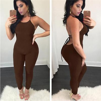 Jumpsuit Women Halter Sexy Backless Bodycon Romper Trousers Ladies Chic Clubwear