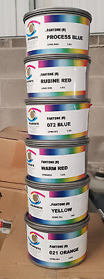 6 x Kilos Pantone Base Colour Litho Inks