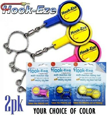 Hook Eze Quick Knot Tool For Fast Hook Tying & Smart Hook Cover