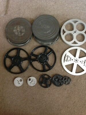 Bundle Of Vintage Film Reels and Film Cans in used Condition
