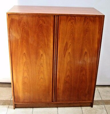 Danish Modern Cherry wood Wardrobe dresser Cabinet Armoire shelves pull drawers