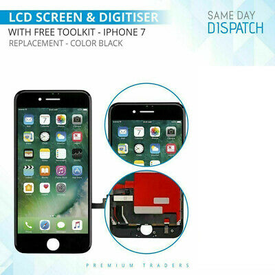 For iPhone 7 Black LCD Digitizer 3D Touch Screen Replacement with FREE Tools
