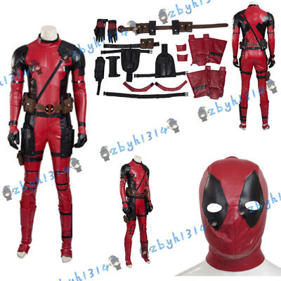 New Style High Quality Deadpool Cosplay Costume Full Suit Accessories Mask YHZB