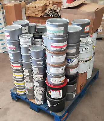 Large Quantity of litho inks, Chemicals and sundries