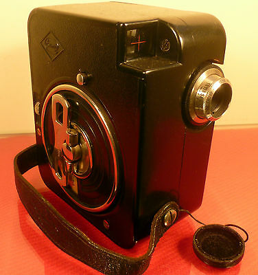 EUMIG C1 BAKELITE  9.5mm CINE MOVIE CAMERA: WITH CASE: VERY SCARCE: AUSTRIA 1932