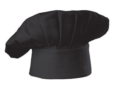 Chef Works Mens Chef Hat, Black, One Size