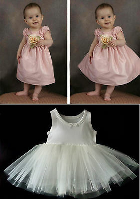 Baby  Ivory Petticoat Christening Dress Flower Girl  Light Fullness Stiff Net