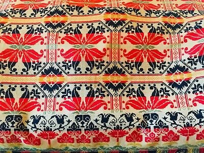 Signed Antique 1844 Woven Wool Coverlet  Peter Seibert Easton Pa Museum Quality