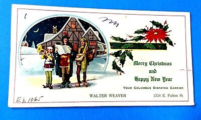 Merry Christmas & Happy New Year Ink Blotter (Walter Weaver Dispatch Carrier)