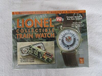 NEW LIONEL Collectible Moving Train Wrist Watch SEALED BOX Case and Authenticity