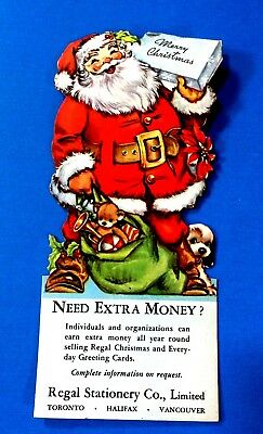 Merry Christmas Santa Ink Blotter Regal Stationary Co.