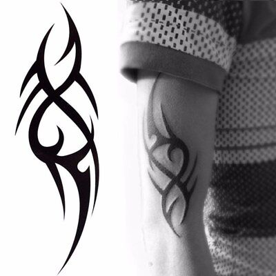 Tribal Temporary Tattoo, Classic Tribal, Black, Mens, Womens, Maori, Sticker
