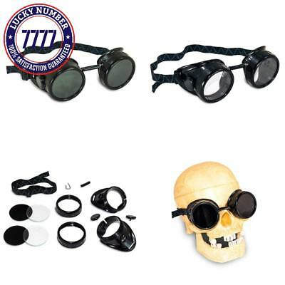 Aes Industries #5 Shade Black Safety Welding Cup Goggles - 50Mm Dual Lens Eye Cu
