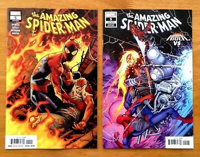Amazing Spider-Man 5 Covers A + B Variant Cosmic Ghost  Rider VS Cover  NM