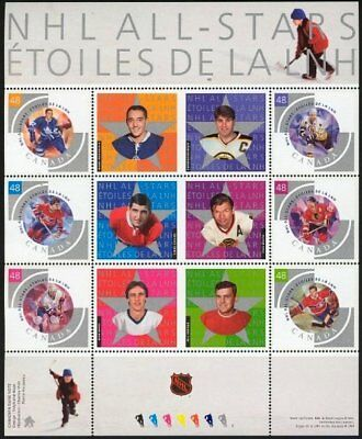 Canada Stamps — Full Pane of 6 — NHL All Stars - 2003 —  #1971 — MNH
