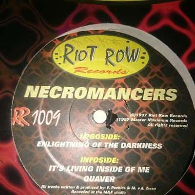 """12"""": Necromancers - Enlightning Of The Darkness - Riot Row Records - RR 1009"""