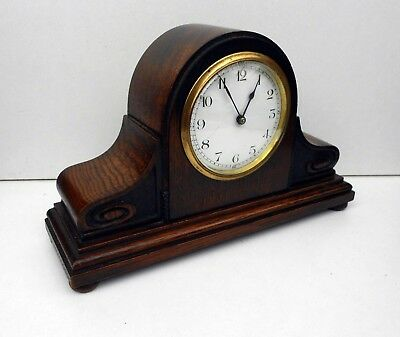 Vintage French Mantle Clock With Enamel Dial
