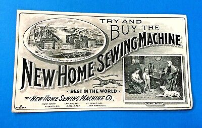 """New Home Sewing Machine Co"" Ink Blotter Orange, Mass"