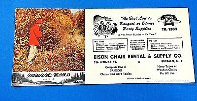 Bison Chair Rental & Supply Co Ink Blotter Buffalo, New York
