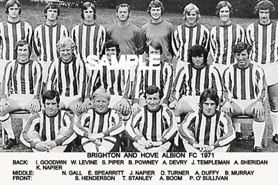 Brighton and Hove Albion  FC 1971 Team Photo