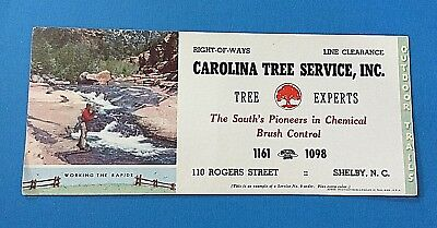 Carolina Tree Service Ink Blotter Shelby, North Carolina