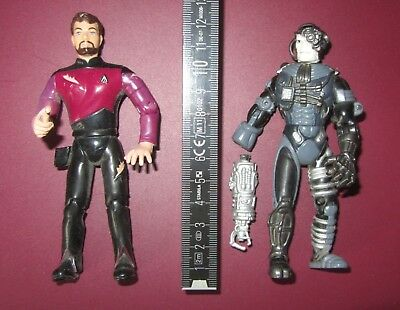 2x Star Trek Playmates Action Figuren: Locutus + Commander William Riker