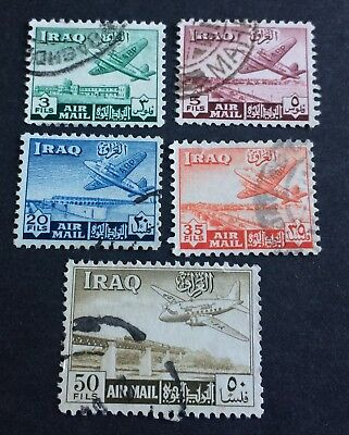 5 nice used stamps Iraq 1949 Airpost
