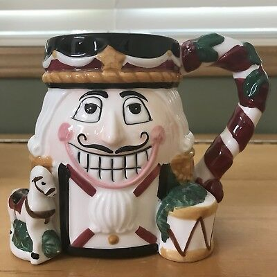Tis the Season 18 oz Nutcracker Christmas Holiday Ceramic Mug; NEW In Box! -9690