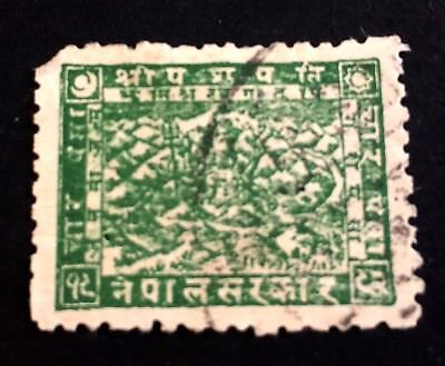 interesting old used stamp green Nepal 1935