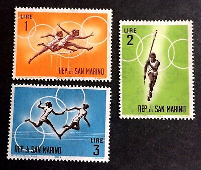 3 nice old stamps Olympic Games 1963 / San Marino 02