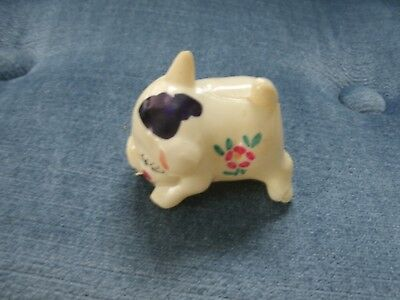 Estate Fresh Vintage Pig Shaped Celluloid Measuring Tape