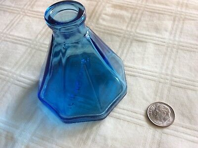 Small Blue Glass Wheaton, NJ  Bottle