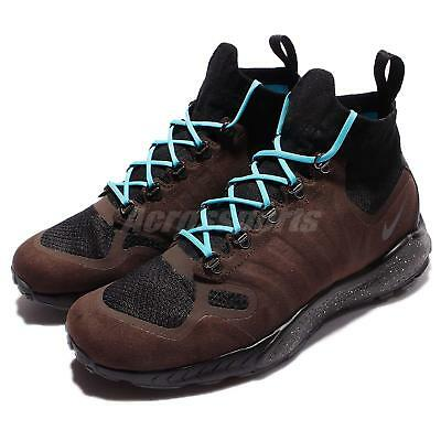 f09c42154cd75 Nike Zoom Talaria Mid FK Flyknit Brown Black Men Outdoors Boots ACG 856957 -200