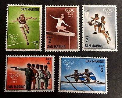 5 nice old mint stamps Olympic Games 1964 Tokyo / San Marino 01