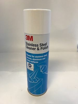 3M 14002 Stainless Steel Cleaner and Polish Aerosol, 21 oz, 8-Pack