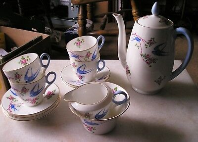 Shelley Bluebird Part Coffee Set C 08915