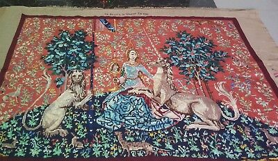 "Needlepoint tapestry wool  handmade French design beautiful size 32""x43(cm81x109"