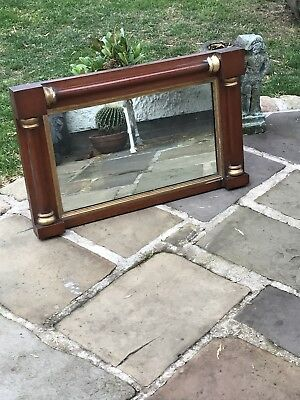 Antique overmantle mirror original