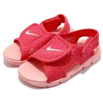 newest f42d6 664b9 Nike Sunray Adjust 4 TD IV Tripocal Pink Red Cleached Coral Toddler  386521-608