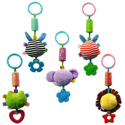Baby Kids Animals Plush Lathe Crib Car Bed Hanging Rattles Stroller Toys LH