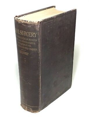 Antique Old 1917 Oral Surgery Diseases Mouth Photo Illustrated Rare Medical Book
