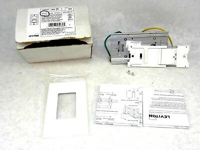 New Leviton Renoir II Master Slide Dimmer (AWSMT-IBW)  Incandescent-Magnetic CT
