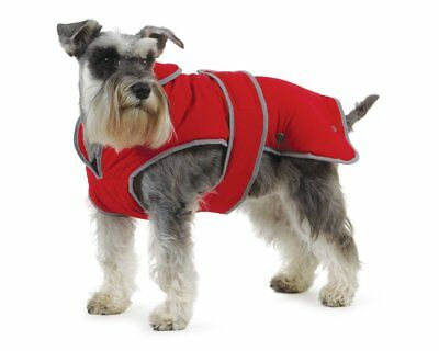 Muddy Paws Stormguard & Fleece Lining Coat Small (Red)