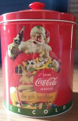 """Coca Cola Metal Tin Container/Lid """"The Gift For Thirst"""""""