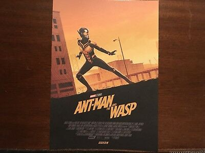 Ant-man And The Wasp Marvel Odeon Exclusive A4 Poster The Wasp Free P&P