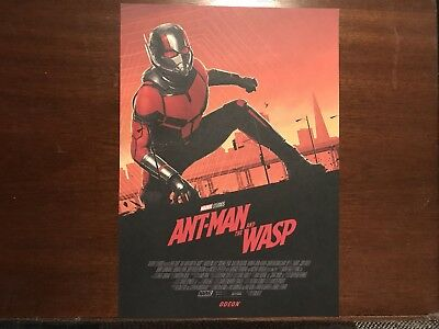 Ant-man And The Wasp Marvel Odeon Exclusive A4 Poster Ant-Man Free P&P