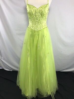 Lime Green Ball Princess Prom Bridesmaid Dress Gown Sweetheart Bead Plus Size 24